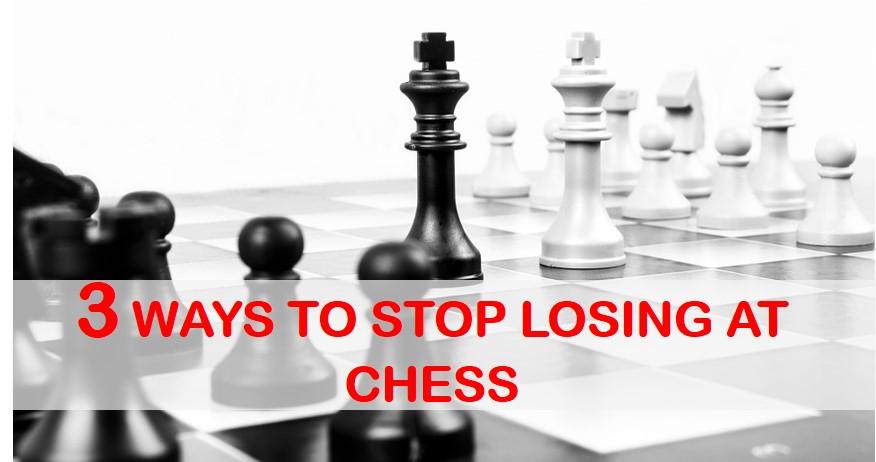 3 ways to stop losing